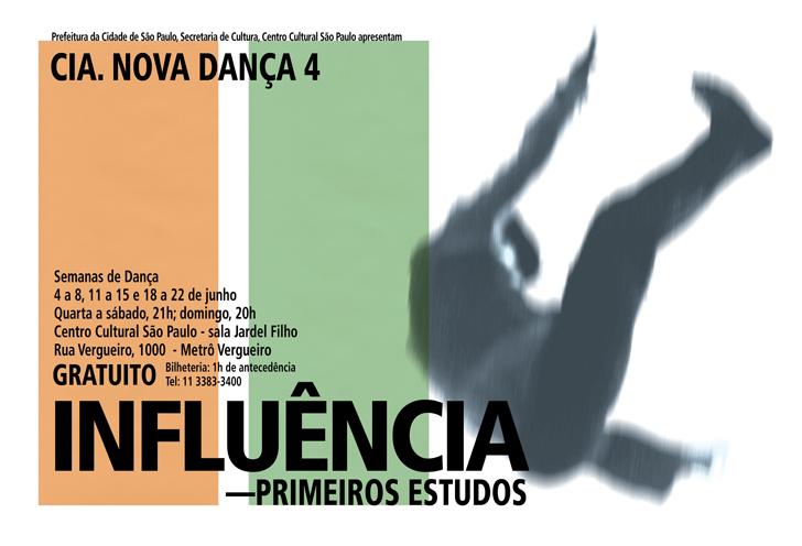 Identidade visual de Anna Turra para Influência –Primeiros Estudos, da Cia. Nova Dança 4