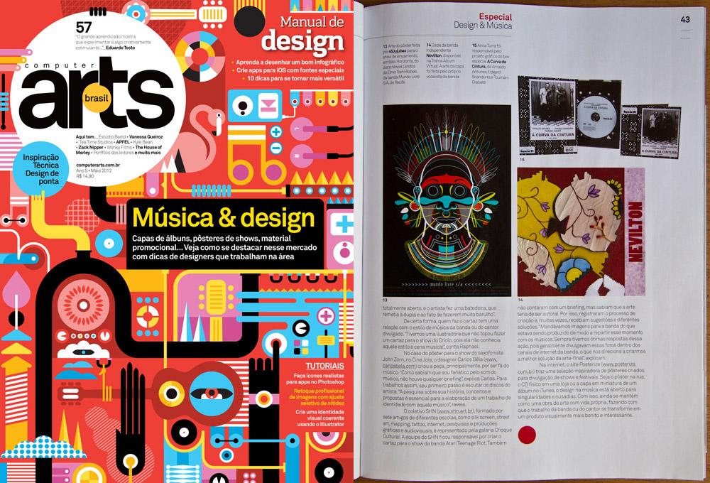 Matéria sobre Música & Design para a Computer Arts