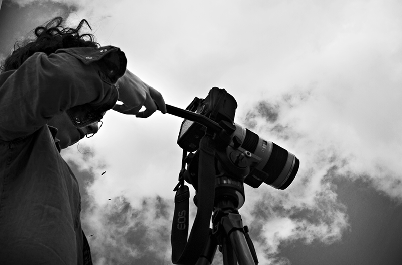 Anna Turra - Making of do videoclipe Olhar Estrangeiro. Foto: Marina Decourt
